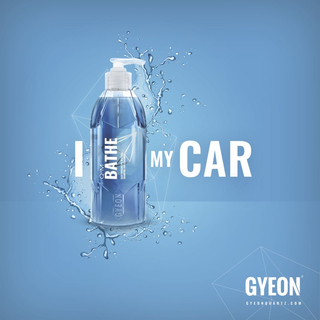 GYEON Canvas Wall Banner I Bathe my car 100 x 100 cm