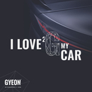 GYEON Canvas Wall Banner I love 2 G my car 100 x 100 cm
