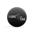 GYEON Badge I love 2 G my car Ø 56 mm schwarz